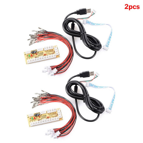 2pcs Zero Delay Arcade USB Encoder PC to Joystick Arcade Rocker Circuit Board Control Panel For MAME