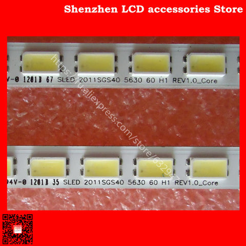 2piece/lot 100%NEW FOR Samsung LJ64-03567A SLED 2011SGS40 5630 60 H1 REV1.0 1PCS=60LED 452MM