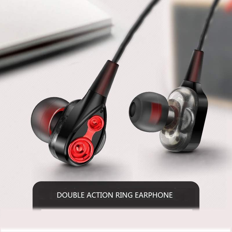 3.5mm Wired earphone High bass Dynamic stereo In-Ear Earphones With Microphone Computer earbuds