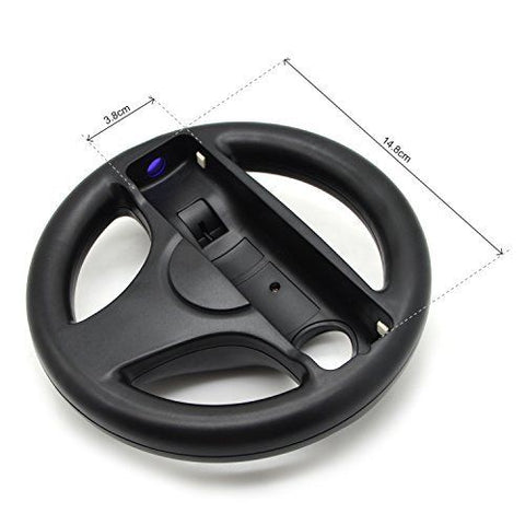 3 Color Plastic Steering Wheel For Nintendo Wii Mari o Kart Racing Games Remote Controller Console