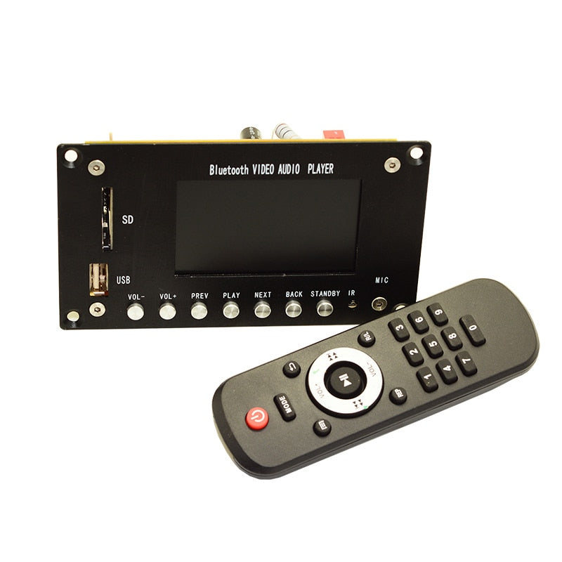 3 Inch LCD MP3 Decoder Board Bluetooth 4.2 Audio Receiver HD Video Player DTS FLAC WAV APE