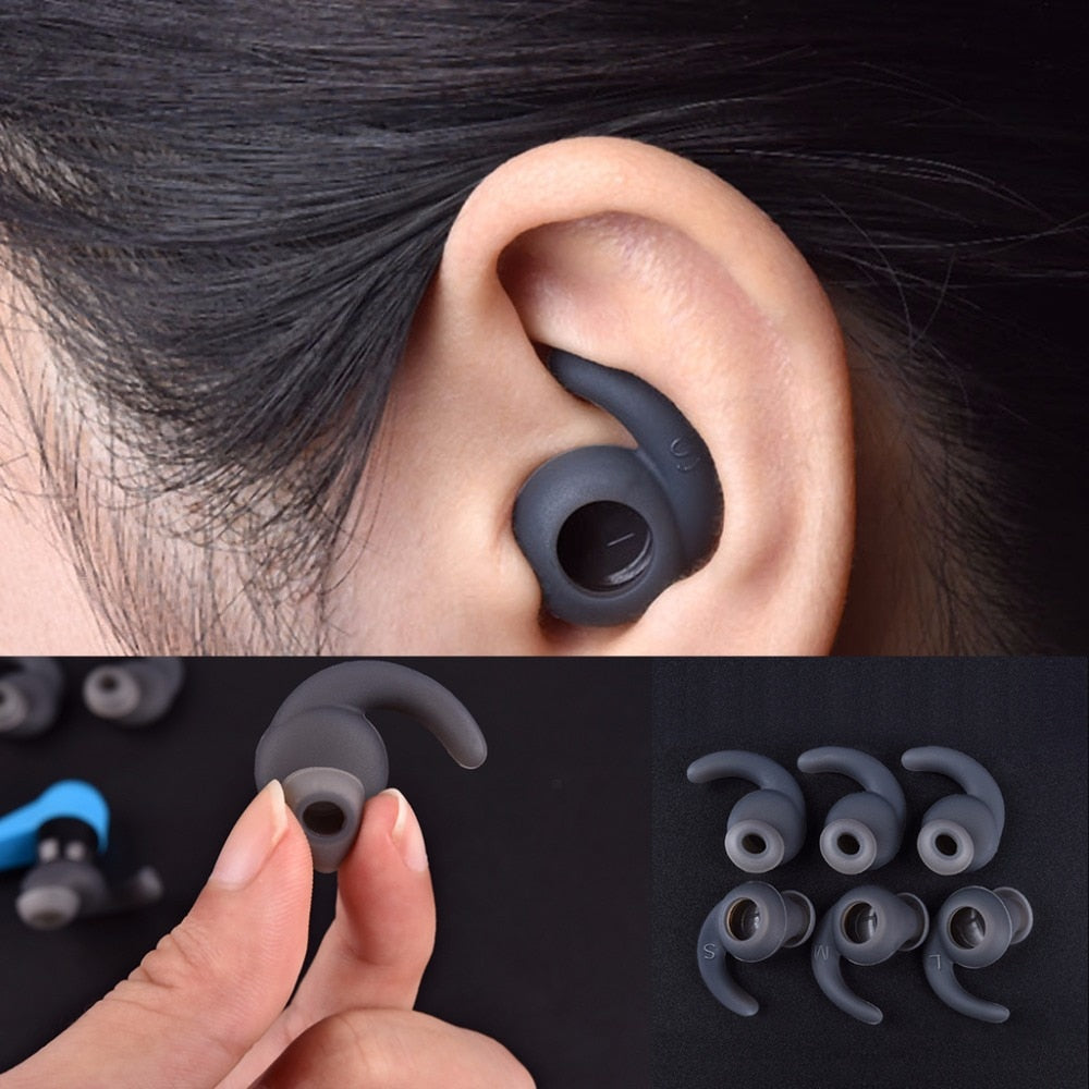 3 Pairs Silicone Earbuds Cover Soft Ear Hook For JBL Sports Bluetooth Headset S M L