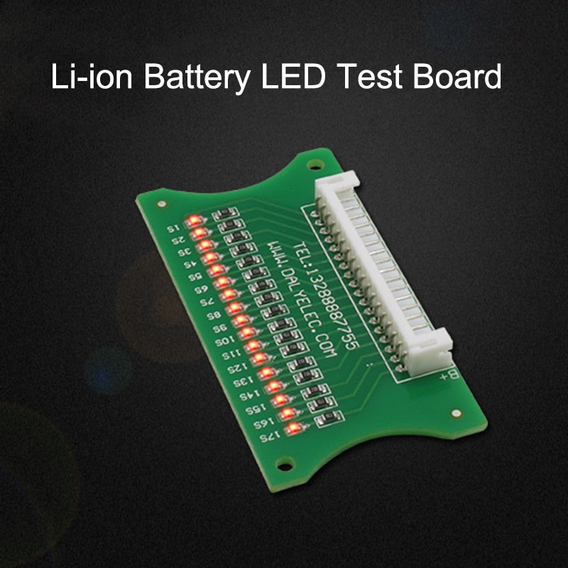 3S-17S Lithium Li-ion Battery LED Test Board Protection Board Cable Wiring 10S 36V 13S 48V 16S 60V