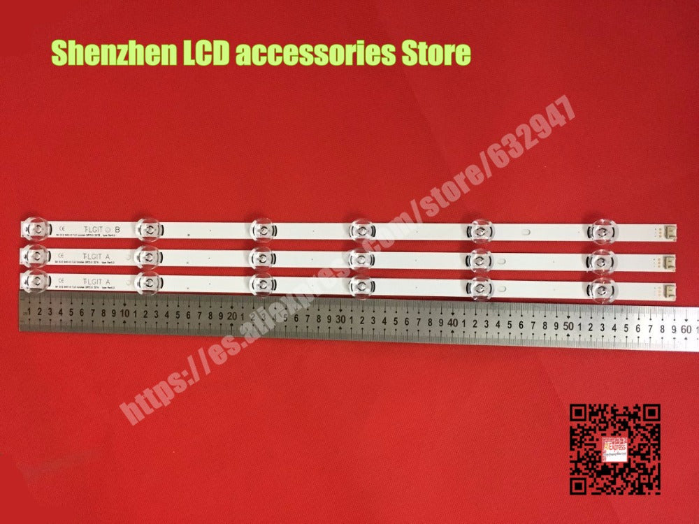 "3piece/lot  FOR  LED BACKLIGHT STRIP A TYPE 6916L-2100A FOR 32"" LG 32LF630V TV, LC320DUE FH A1"