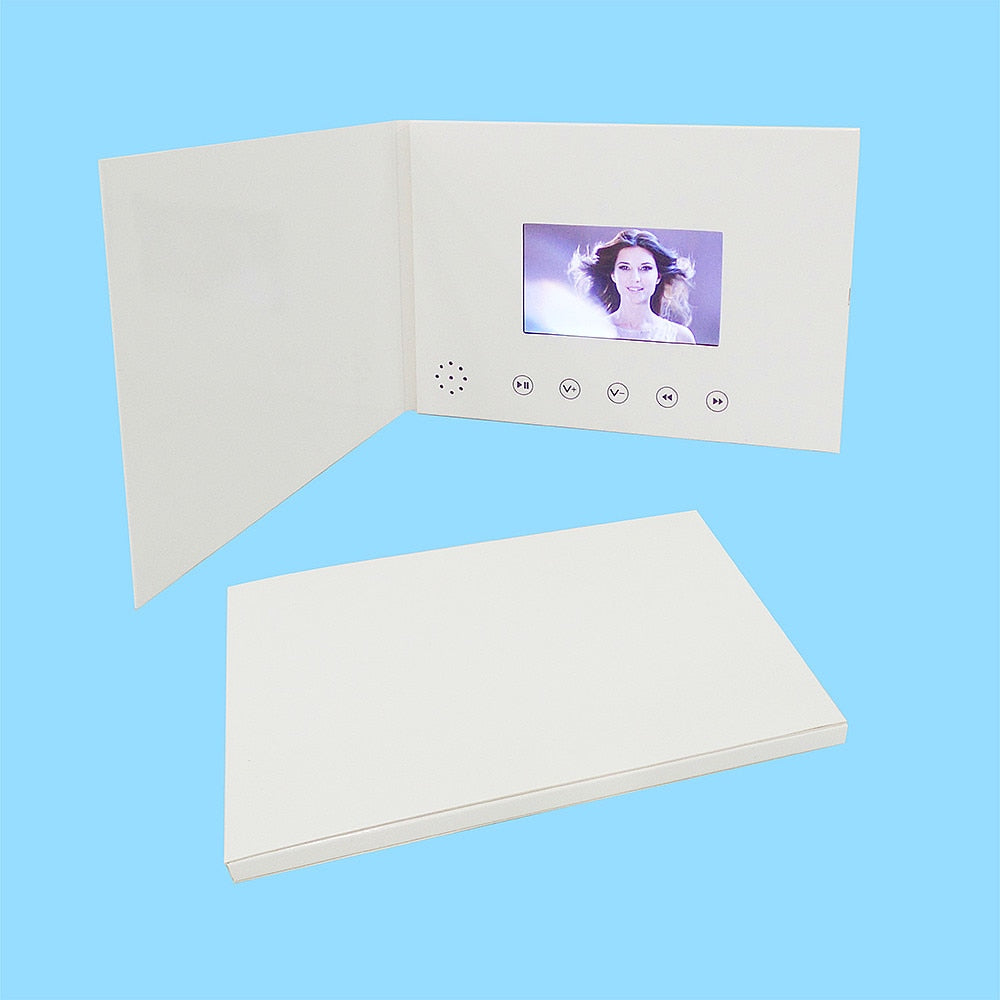 4.3inch New Video Brochure Cards for Presentations Digital Advertising Player 4.3 inch Screen Video