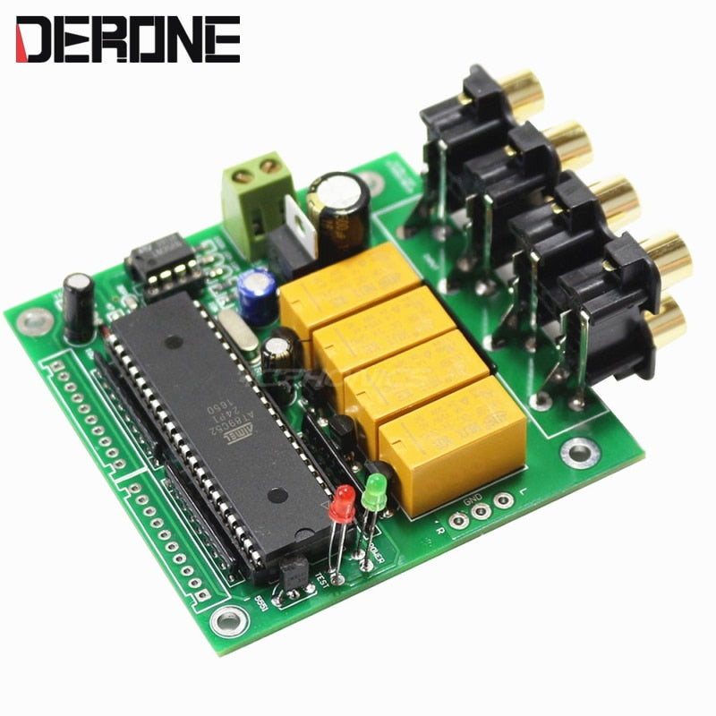4 Channel Auto Source Selector Preamplifier signal input selection board