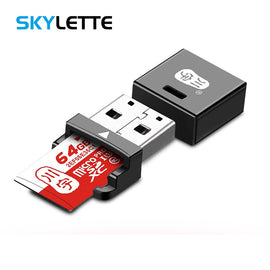 4 Color MiNi USB2.0 Card Reader TF / MicroSD / MicroSDHC / MicroSDXC All In 1 Portable Card Reader