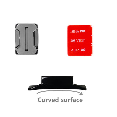 4 PCS Flat Curved Mount Set Sticker 3M Adhesive