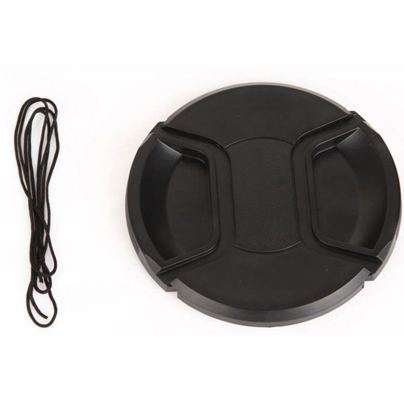 40.5mm 52mm 55mm 58mm 62mm 67mm 72mm 77mm 82mm Center Pinch Snap-on Cap Cover Withoutlogo+ Rope