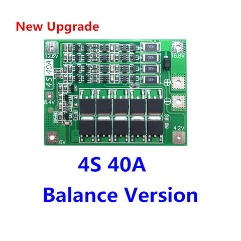 4S 40A Li-ion Lithium Battery 18650 Charger PCB BMS Protection Board with Balance For Drill Motor