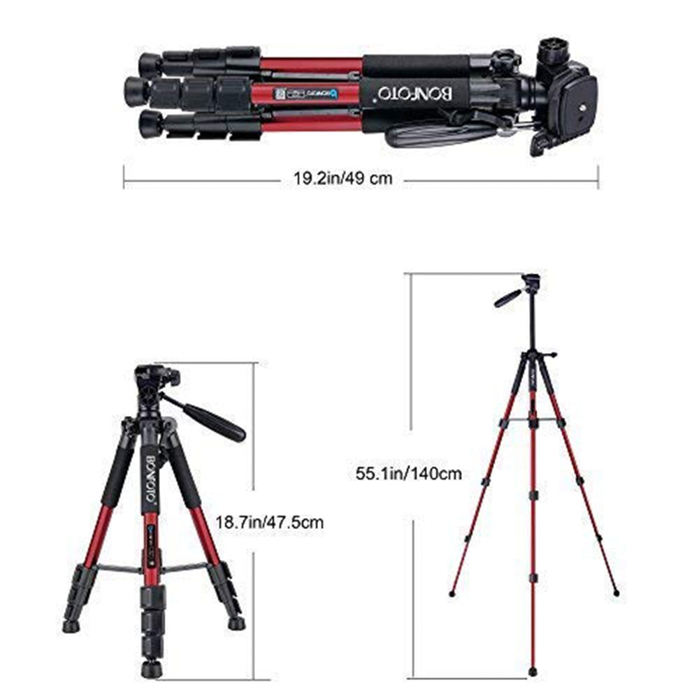 "55"" Profession Travel Camera Portable Folding SLR Camera Tripod For Projector Smartphones Tablet"