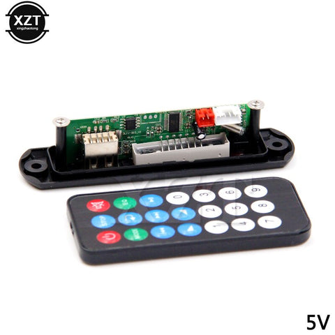 5V 12V mp3 module mp3 decoder board Automobile Car WMA FM AUX  Plate Audio TF SD Card Radio USB