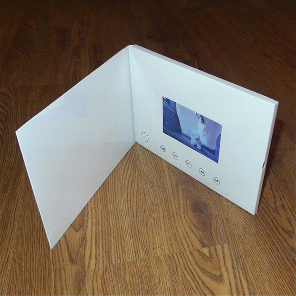7inch Screen 8GB Brochure Universal Video Greeting Cards Fashion Design Video Advertising Cards