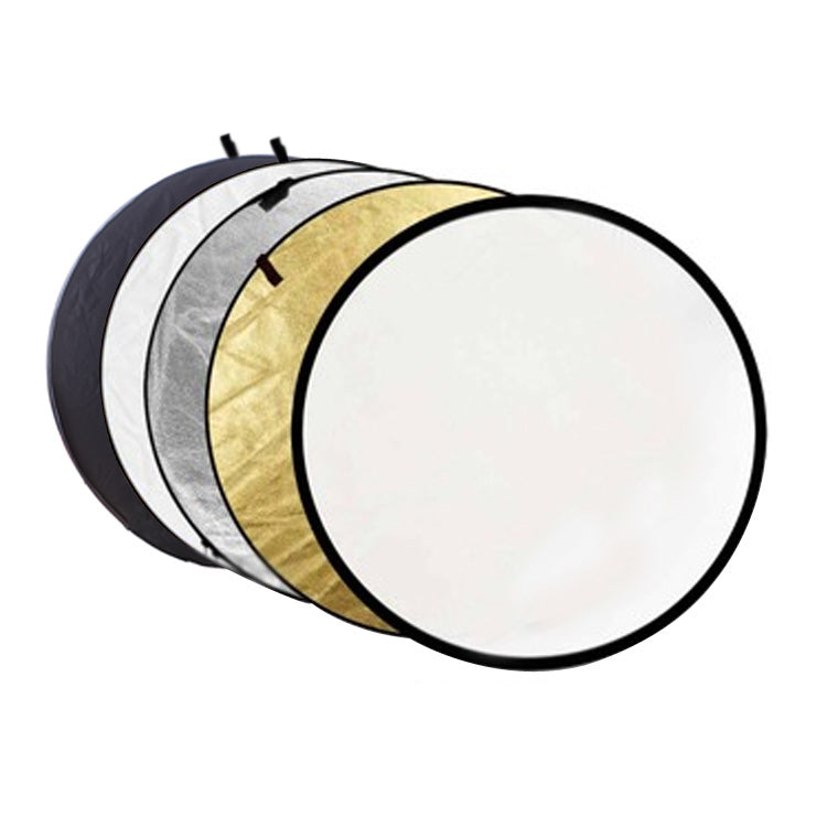 "80CM 31"" 5 in 1 Reflector Fotografia Round Flash Photo Studio collapsible light reflector Gold"