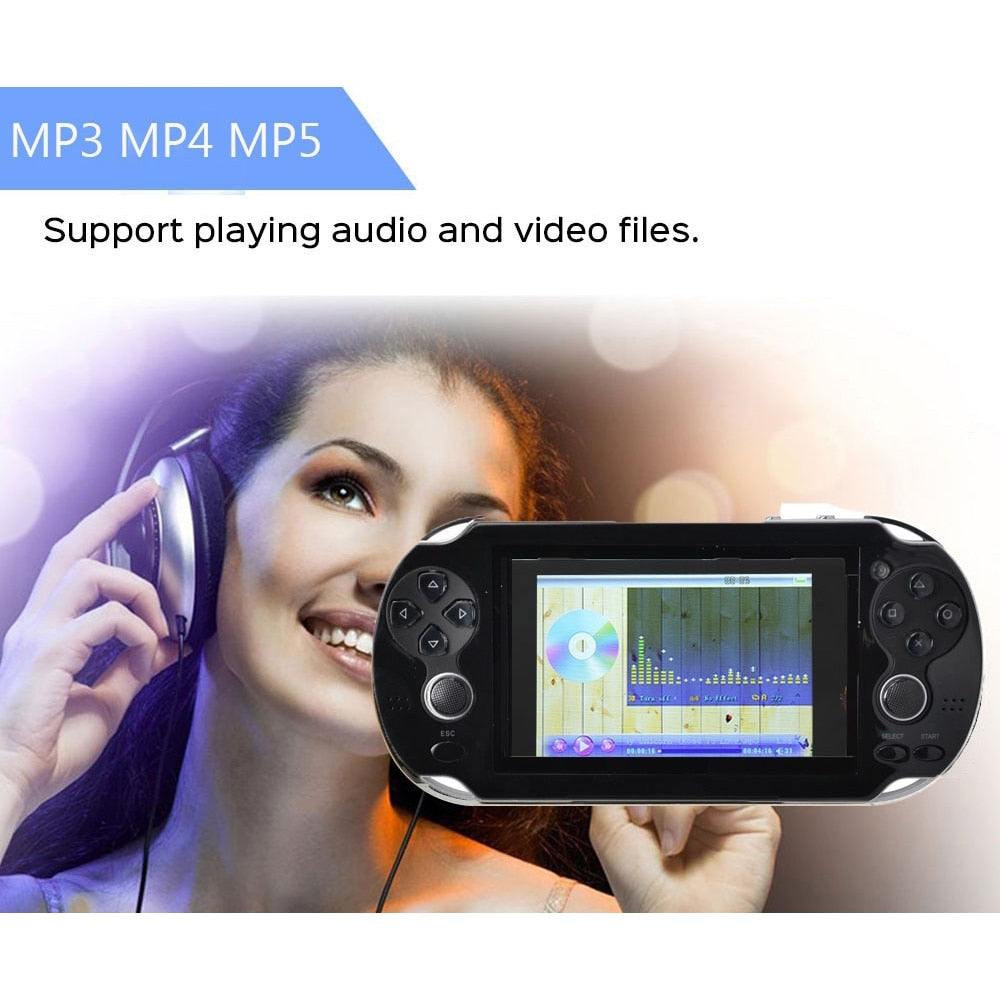 8GB 4.3in Built-in Classic Games Machine Portable Game Handheld Player Handheld Video Music
