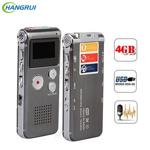 8GB Voice Recorder USB Flash Digital Audio Professional Voice Activated Dictaphone Support 650Hr