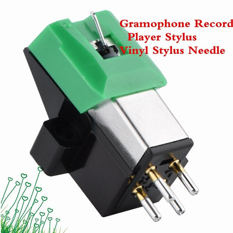 AABB-Gramophone Antistatic Carbon Fiber Record Player Stylus 13Mm Pitch Record Cartridge Vinyl