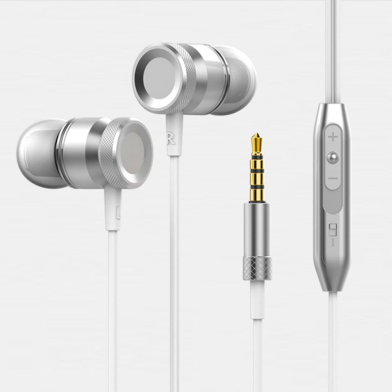 ANBES Sport Headphones Super Bass Stereo Earphone Hands-Free Headset with Mic for All Phone Computer