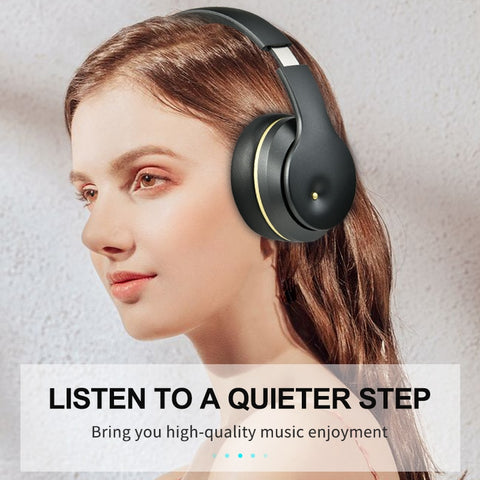 ANC Bluetooth Headphones Active Noise Cancelling Wireless Headset Foldable Hifi Earphones with Mic