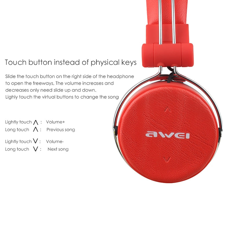 AWEI A700BL Bluetooth Headphone With Microphone Wireless Earphone Cordless Headset Stereo Casque