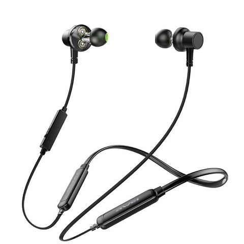 AWEI G20BLS Wireless Bluetooth Earphone Headphones With Microphone Dual Driver Noise Cancel Headset