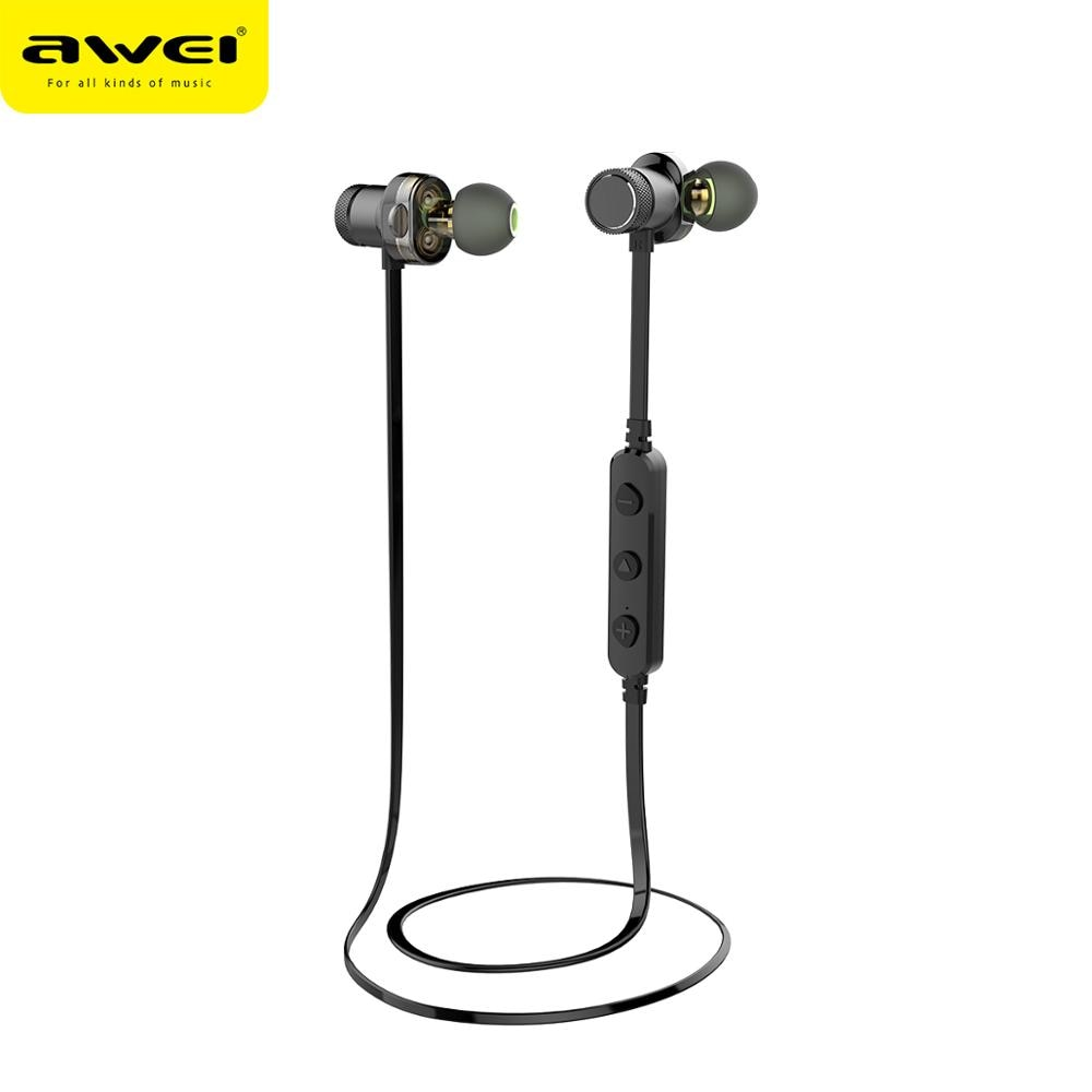 AWEI Newest T13 Wireless Earphone Headphone Neckband Headset Earpiece For Phone Casque Auriculares
