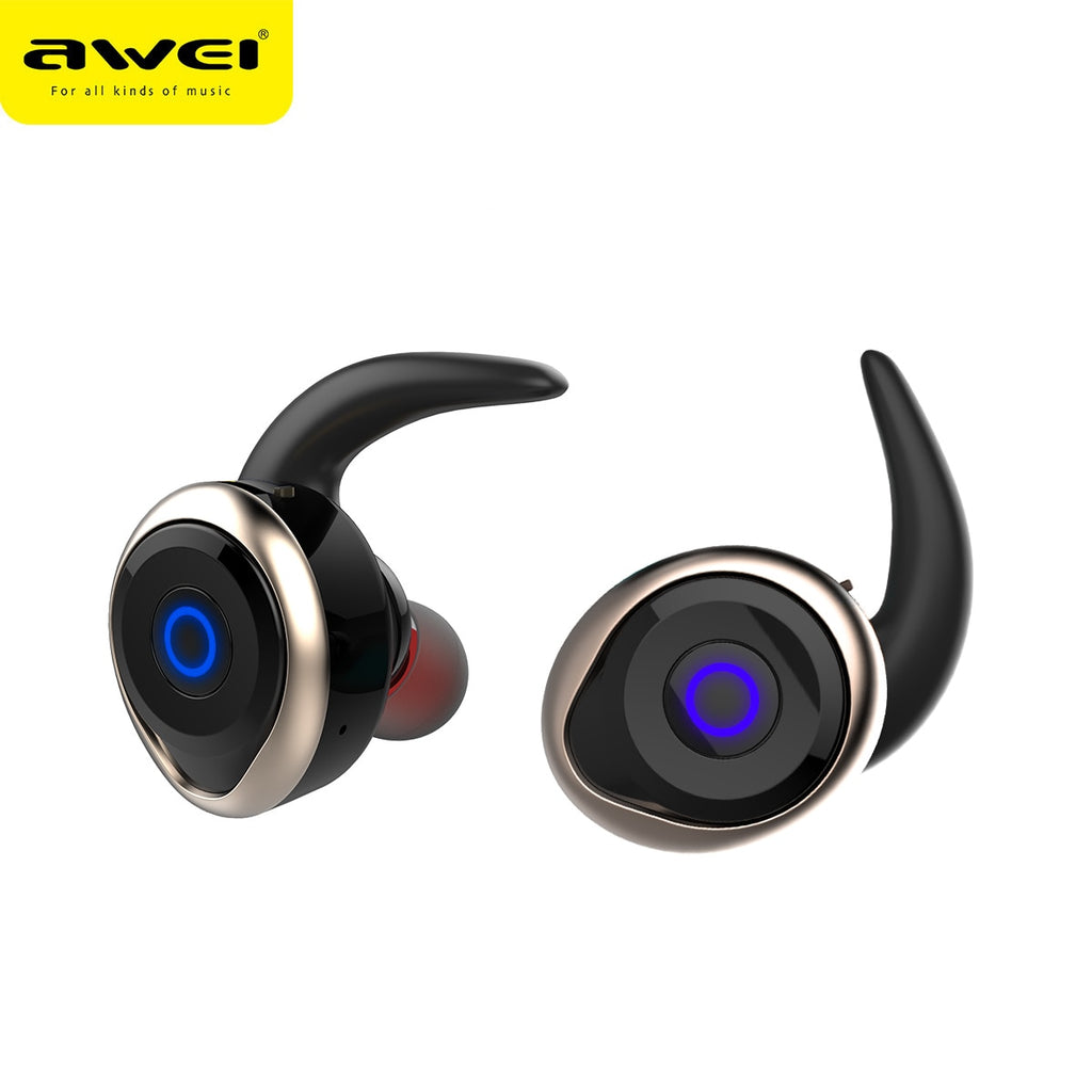 AWEI T1 TWS Bluetooth Headphones wireless Earphone Headset Double Wireless Earbuds Cordless