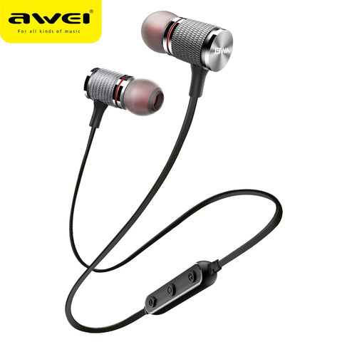 AWEI T12 Bluetooth Earphone Wireless Headphone Headset For Phone Sport earphone with mic Bluetooth