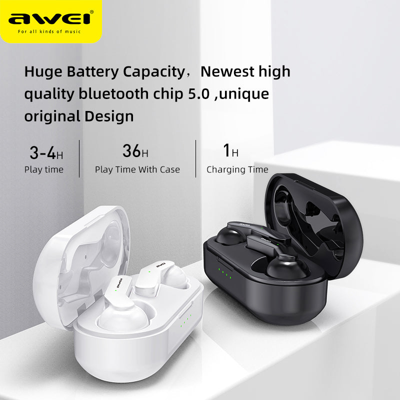 AWEI TWS Bluetooth V5.0 True Wireless Charging Earbuds