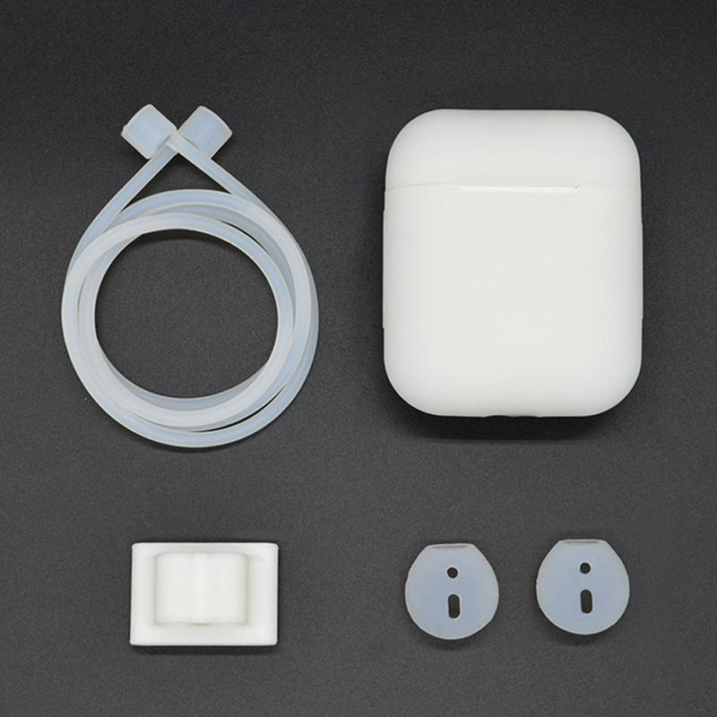 [Accessories Sets] Anti-lost Silicone Holder for AirPods Portable Anti-lost Strap Cord Silicone