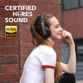 Anker Soundcore Life Q10 Wireless Bluetooth Headphones, Over Ear and Foldable, 60-Hour Playtime