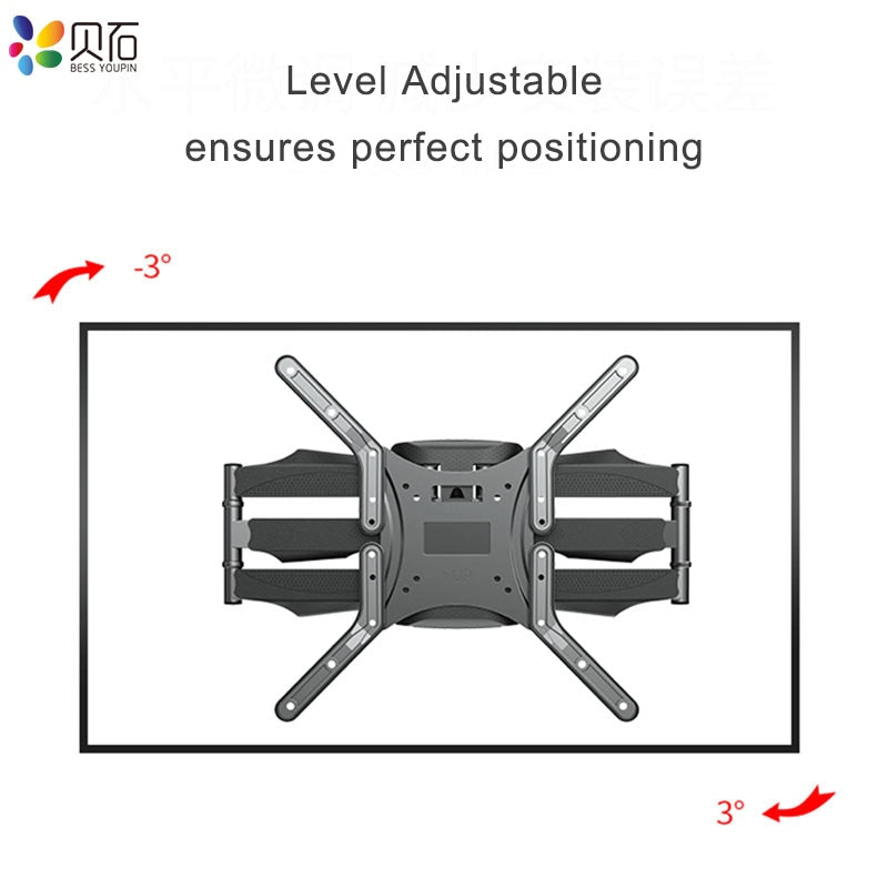 "Articulating 6 Arms TV Wall Mount Full Motion Tilt Bracket TV Rack Wall Mount  for 32""-65"" TVs up to"