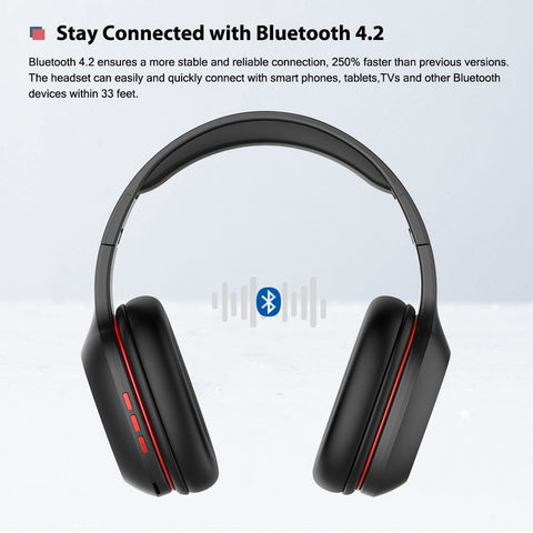 Ausdom M09 Bluetooth Headphone Over-Ear Wired Wireless Headphones Foldable Bluetooth 4.2 Stereo