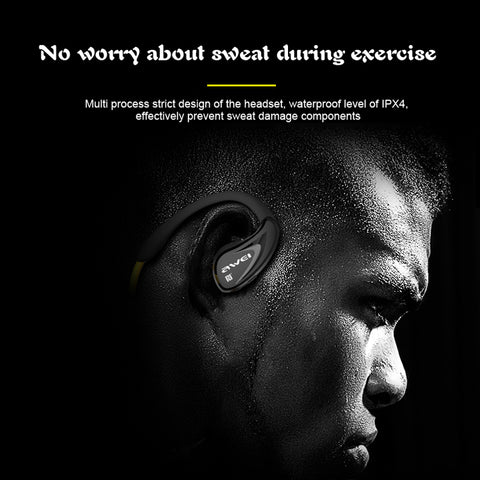 Awei A880BL Bluetooth Earphone Wireless Headphones APT-X Sport Headset Kulakl Noise Canceling