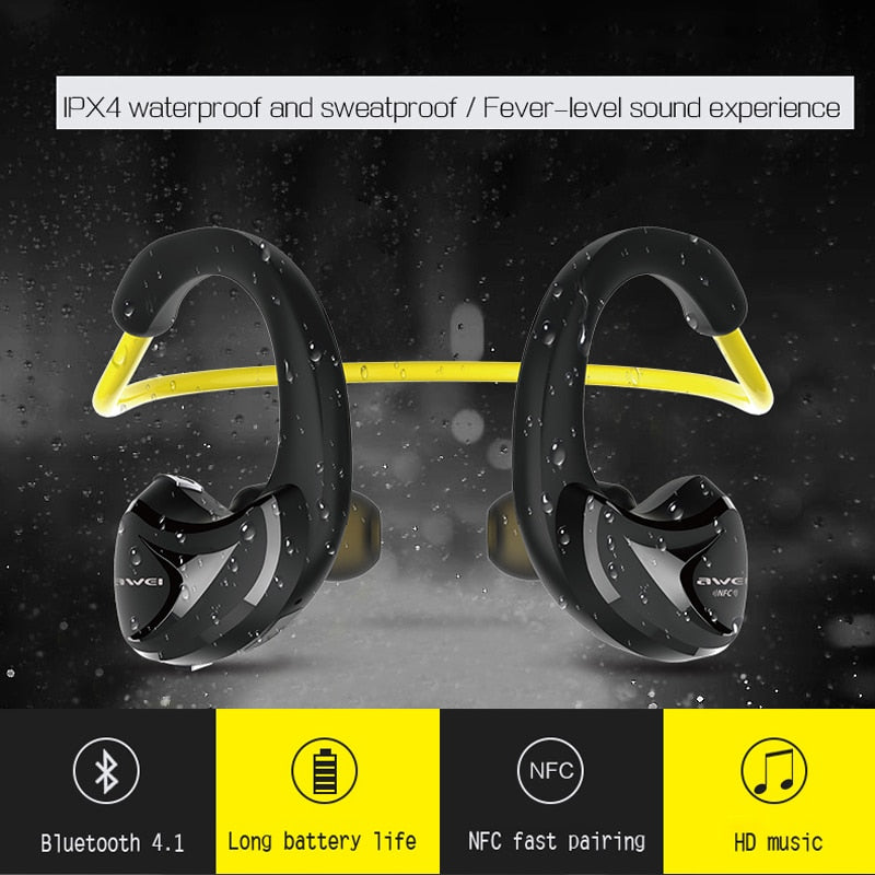 Awei A880BL Bluetooth Earphones Wireless Headphones With Microphone Headset For Phone Bluetoot Sport