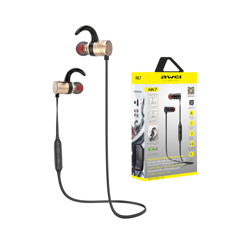 Awei AK7 Wireless Sport Auriculares Bluetooth Earphone Stereo Headphones Headset kulakl k Megnetic