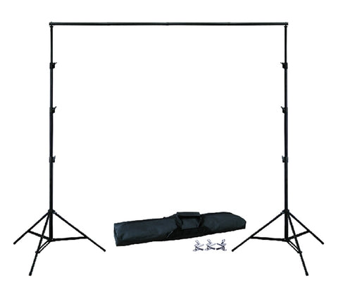 BACKGROUND HOLDER 10Ft X 6.5Ft  3M X 2M Adjustable Muslin Background Backdrop Support Stand Kit