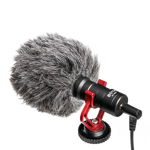 BOYA BY-MM1 Video Record Microphone Compact VS Rode VideoMicro On-Camera Recording Mic for iPhone