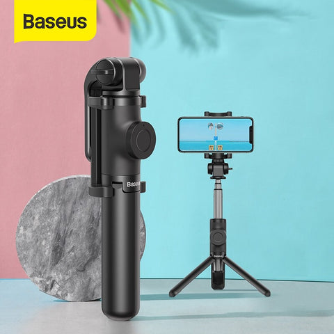 Baseus Wireless Bluetooth Selfie Stick Foldable Handheld Monopod Shutter Remote Extendable Mini