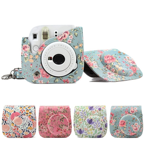 Besegad PU Leather Camera Protective Bag Holder Pouch Case for Fuji Fujifilm Instax Mini