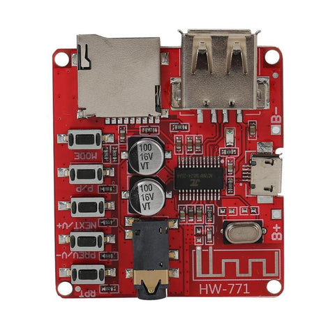Bluetooth Audio Receiver Board w/USB TF Card Slot DIY Modified MP3 Module WAV+APE+FLAC+MP3