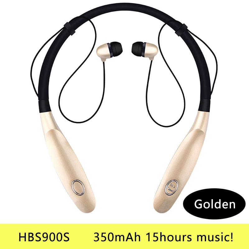 Bluetooth Earphone Wireless Headphones Running Sports Bass Sound Cordless Ear phone With