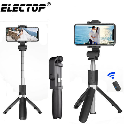 Bluetooth Selfie Stick with Tripod Plastic Alloy Self Stick Selfiestick Phone Smartphone