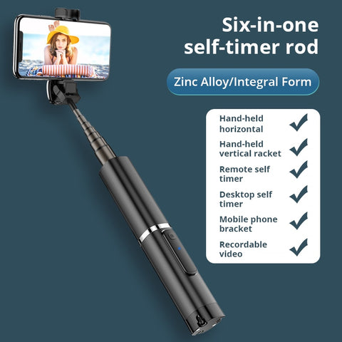 Bonola Portable Integrated Tripod Selfie Stick Hidden Phone Bracket Bluetooth Button Phone
