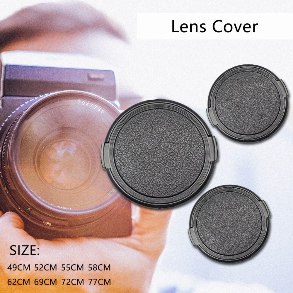 Centechia Anti-lost 49 52 55 58 62 67 72 77 mm Camera Lens Cap Protection Cover Lens Front Cap for