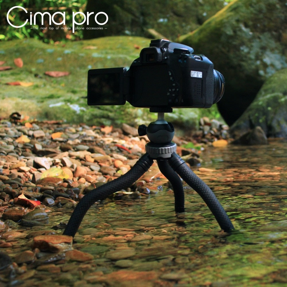 Cima pro RM-30 Travel Outdoor Mini Bracket Stand Octopus Tripod flexible tripe For phone Digital