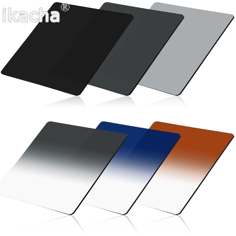Complete ND 2 4 8 + Gradual ND4 Blue Orange Filter 49 52 55 58 62 67 72 77 82mm Kit for Cokin P
