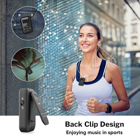 MP3 Player Bluetooth with Clip FM Radio Armband Portable Mini MP 3 Music Play
