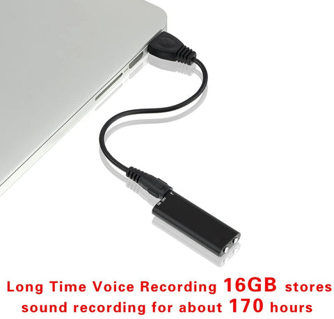 Digital Voice Recorder Mini Voice Recorder with 16GB USB Flash Drive/170 Hours Recording Capacity