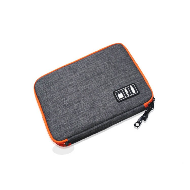 Double Layer Travel USB Cable Storage Bag Gadget Organizer Electronic Digital Kit Pouch Ipad